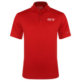 Columbia Red Omni Wick Drive Polo-Primary Mark Horizontal
