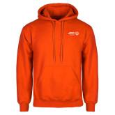 Orange Fleece Hoodie-Primary Mark Horizontal