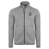 Grey Heather Fleece Jacket-Primary Mark Vertical