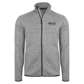 Grey Heather Fleece Jacket-Primary Mark Horizontal