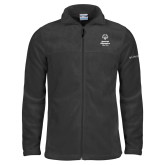 Columbia Full Zip Charcoal Fleece Jacket-Primary Mark Vertical