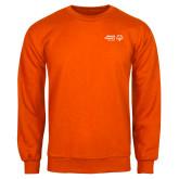 Orange Fleece Crew-Primary Mark Horizontal