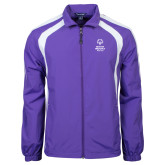 Colorblock Purple/White Wind Jacket-Primary Mark Vertical