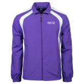 Colorblock Purple/White Wind Jacket-Primary Mark Horizontal