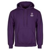 Purple Fleece Hoodie-Primary Mark Vertical
