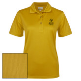 Ladies Gold Dry Mesh Polo-Primary Mark Vertical