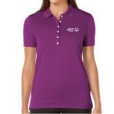 Ladies Callaway Opti Vent Purple Polo-Primary Mark Horizontal
