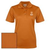 Ladies Orange Dry Mesh Polo-Primary Mark Vertical