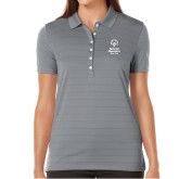 Ladies Callaway Opti Vent Steel Grey Polo-Primary Mark Vertical