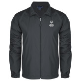 Full Zip Charcoal Wind Jacket-Primary Mark Vertical