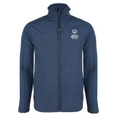 Navy Heather Softshell Jacket-Primary Mark Vertical
