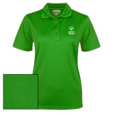 Ladies Kelly Green Dry Mesh Polo-Primary Mark Vertical