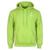 Lime Green Fleece Hoodie-Primary Mark Vertical