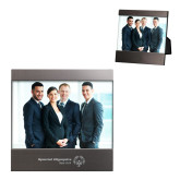 Brushed Gun Metal 4 x 6 Photo Frame-Primary Mark One Line Horizontal Engrave