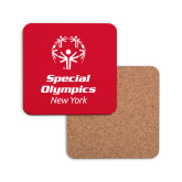 Hardboard Coaster w/Cork Backing-Primary Mark Vertical