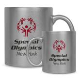 Full Color Silver Metallic Mug 11oz-Primary Mark Vertical