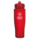 Spectrum Red Sport Bottle 28oz-Primary Mark Vertical