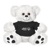 Plush Big Paw 8 1/2 inch White Bear w/Black Shirt-Primary Mark Horizontal