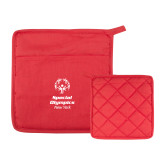 Quilted Canvas Red Pot Holder-Primary Mark Vertical