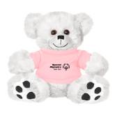 Plush Big Paw 8 1/2 inch White Bear w/Pink Shirt-Primary Mark Horizontal