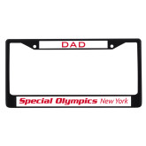 Dad Metal License Plate Frame in Black-Flat Word Mark