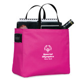 Tropical Pink Essential Tote-Primary Mark Vertical