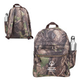 Heritage Supply Camo Computer Backpack-Primary Mark Vertical