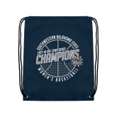 Navy Drawstring Backpack-Womens Basketball GAC Conference Champions