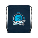 Navy Drawstring Backpack-2019 Womens Back To Back Basketball Champions