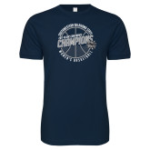 Next Level SoftStyle Navy T Shirt-Womens Basketball GAC Conference Champions