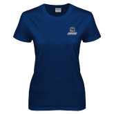 Ladies Navy T Shirt-Primary Mark