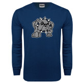 Navy Long Sleeve T Shirt-Bulldog