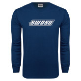 Navy Long Sleeve T Shirt-SWOSU