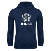 Navy Fleece Hoodie-Soccer Ball Design