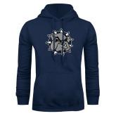 Navy Fleece Hoodie-Bulldog Head