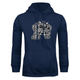 Navy Fleece Hoodie-Bulldog