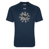 Under Armour Navy Tech Tee-Bulldog Head