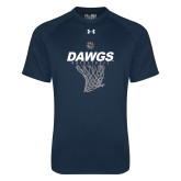 Under Armour Navy Tech Tee-Basketball Net Design