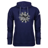 Adidas Climawarm Navy Team Issue Hoodie-Bulldog Head