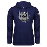 Adidas Climawarm Navy Team Issue Hoodie-Bulldog Head