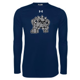 Under Armour Navy Long Sleeve Tech Tee-Bulldog