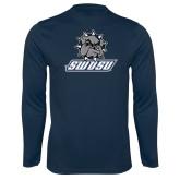 Syntrel Performance Navy Longsleeve Shirt-Primary Mark