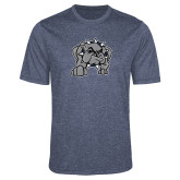 Performance Navy Heather Contender Tee-Bulldog