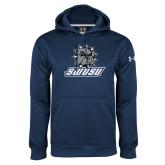 Under Armour Navy Performance Sweats Team Hoodie-Primary Mark