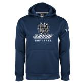 Under Armour Navy Performance Sweats Team Hoodie-Softball