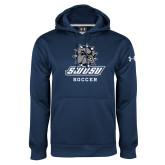 Under Armour Navy Performance Sweats Team Hoodie-Soccer