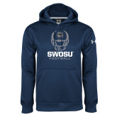 Under Armour Navy Performance Sweats Team Hoodie-Football Helmet Design