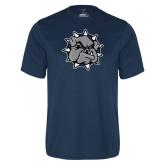 Syntrel Performance Navy Tee-Bulldog Head