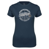 Ladies Syntrel Performance Navy Tee-Womens Basketball GAC Conference Champions