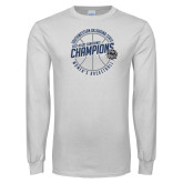 White Long Sleeve T Shirt-Womens Basketball GAC Conference Champions